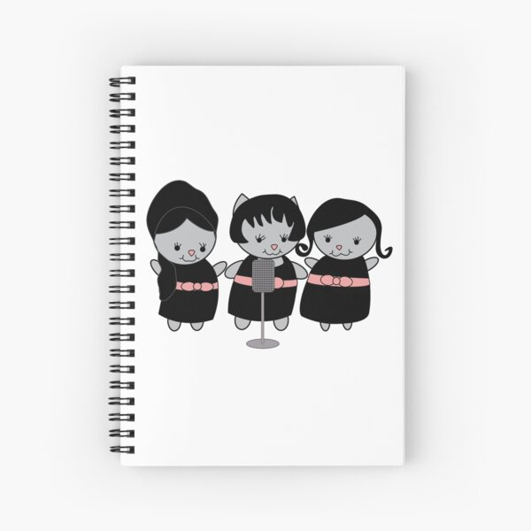 1960s Singing Cats Girl Group Spiral Notebook