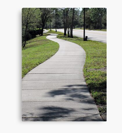 The Winding Sidewalk Canvas Print