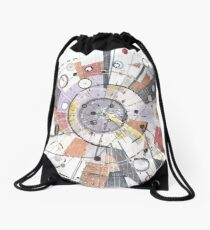 Information Superhighway Drawstring Bag