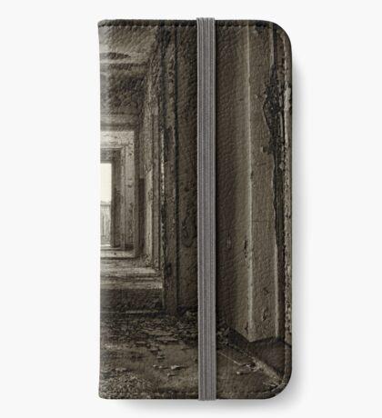 Abandoned Places Dark Hallway iPhone Wallet
