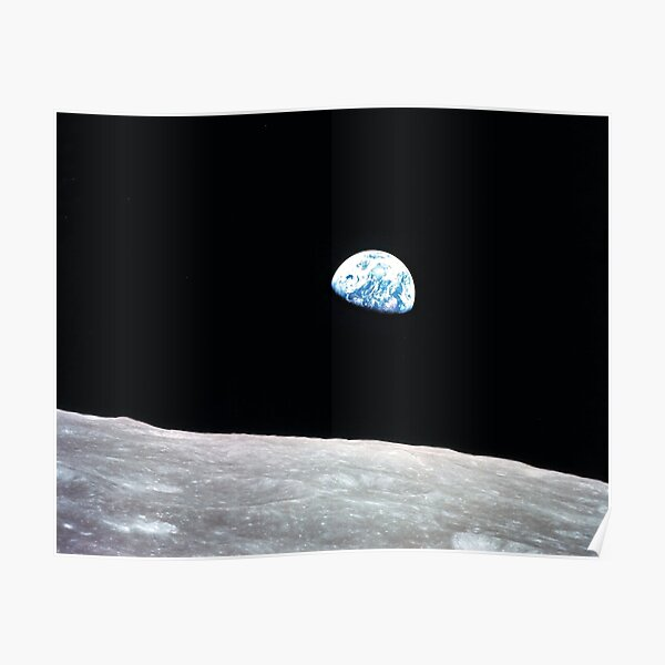The Earth as Seen from the Moon Poster
