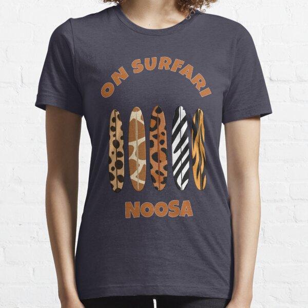 Noosa Surfing - On Surfari Animal Print Surfboards  Essential T-Shirt