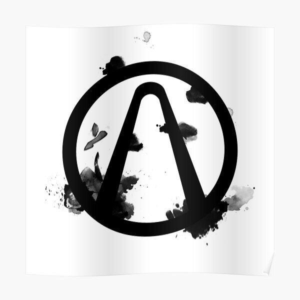 Vault Logo Black - Borderlands Poster
