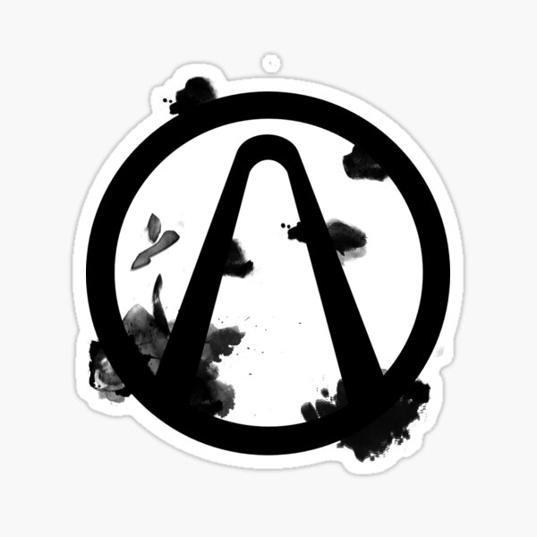 Vault Logo Black - Borderlands Sticker