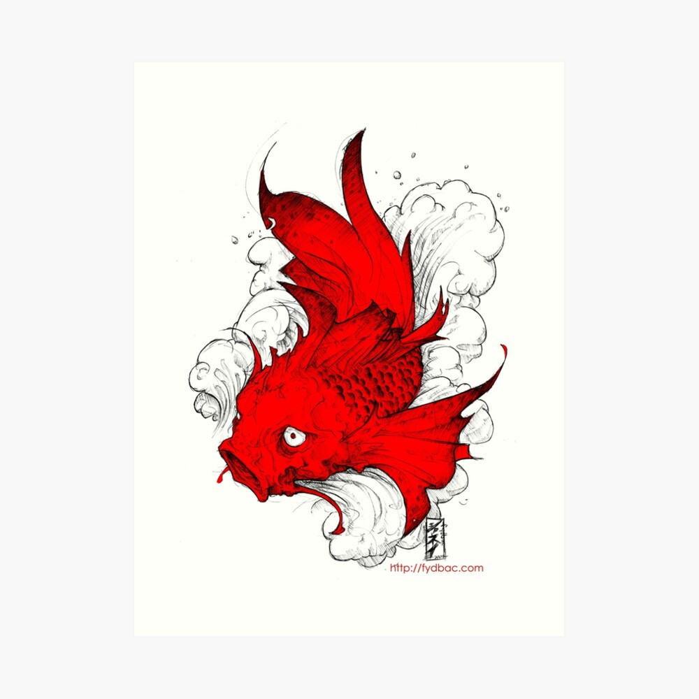 Koi | red Kunstdruck