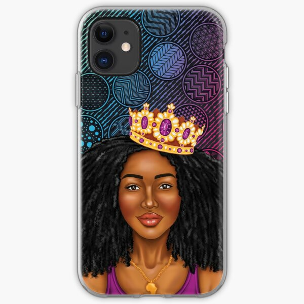 Brown Skin Girl iPhone Soft Case