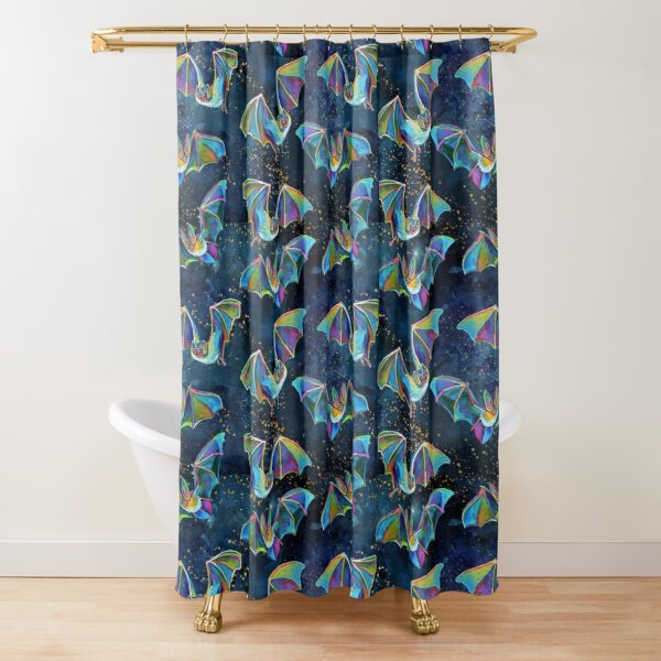 LIL' GOTHIC BATS N' STARS Shower Curtain