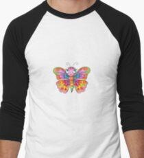 Rainbow Butterfly Men's Baseball ¾ T-Shirt