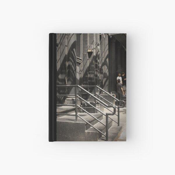 Shadows in New York - white street Hardcover Journal