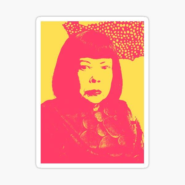 Portrait de Yayoi Kusama Sticker