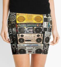 Wall Of Boomboxes Mini Skirt