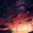 Stürmischer Anime Landschaftshimmel von LunarAphelion