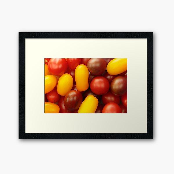 Cherry tomatoes Framed Art Print