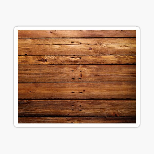 wood, hardwood, dark, log, carpentry, rough, pine, old, desk, horizontal, plank, flooring, wood paneling Sticker
