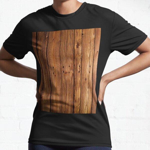 #wood, #hardwood, #dark, #log, carpentry, rough, pine, old, desk, horizontal, plank, flooring, wood paneling, backgrounds Active T-Shirt