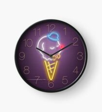 Neon Ice Cream Clock