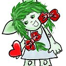 Troll girl with a heart on her palm by Magazin-Brenda