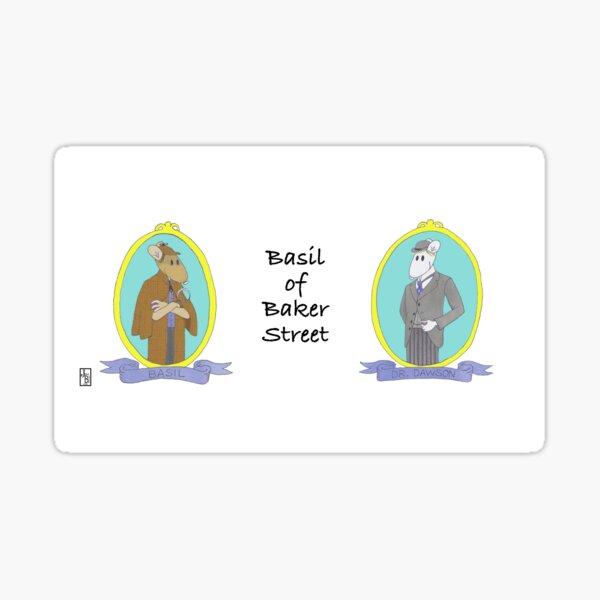 Basil of Baker Street Sticker