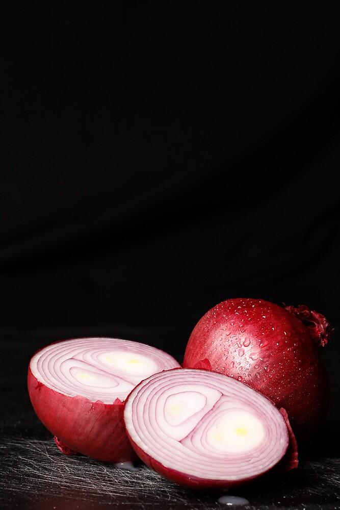Painted Rain Series - Onion 1 by Sandra Wicklund