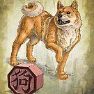 Chinese Zodiac - the Dog Card by Stephanie Smith