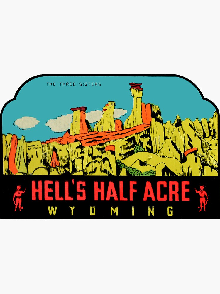 Calcomanía de viaje vintage de Wyoming Half Acre Wyoming de hilda74