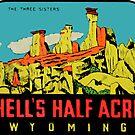«Calcomanía de viaje vintage de Wyoming Half Acre Wyoming» de hilda74