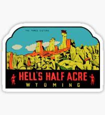 Pegatina Calcomanía de viaje vintage de Wyoming Half Acre Wyoming