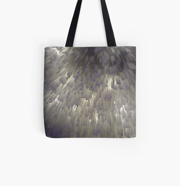 #Architecture #White #Light #Lighting #Line #Design #abstract #pattern #futuristic All Over Print Tote Bag