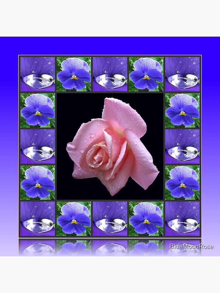 Sparkling Raindrops Floral Collage von BlueMoonRose