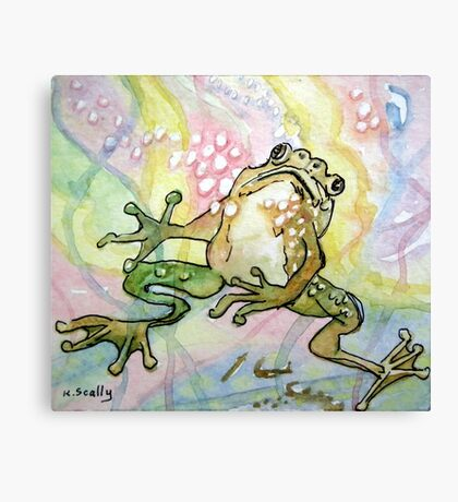 Frog - Why Me? Canvas Print