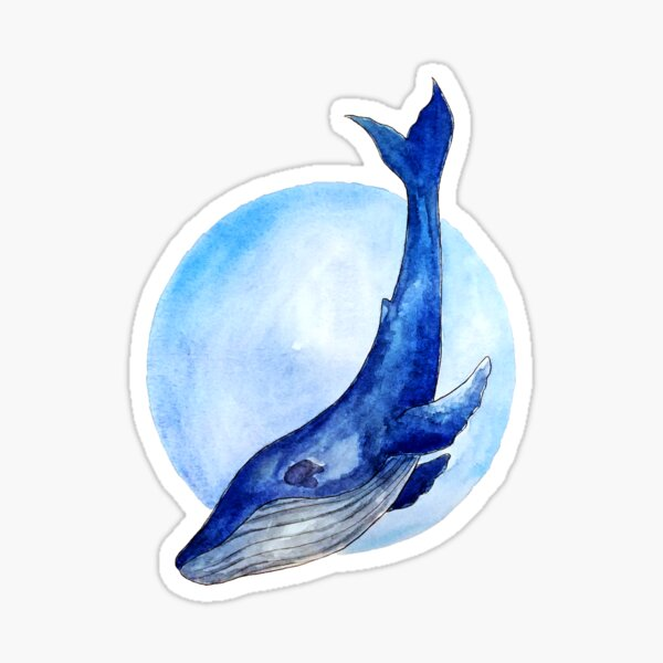 A whale of a good time Sticker