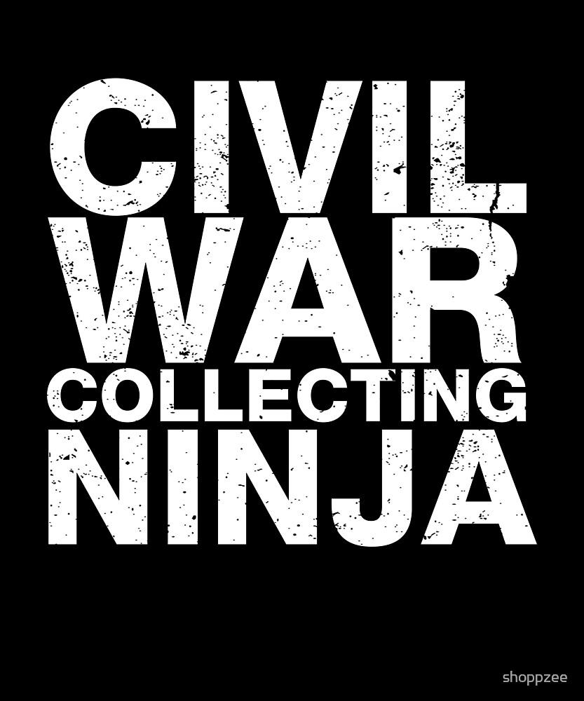 Civil War Memorabilia Shirt Civil War Collecting Ninja by shoppzee