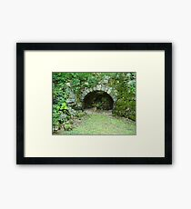 Moss-covered Structure - Built by Native Americans Framed Print