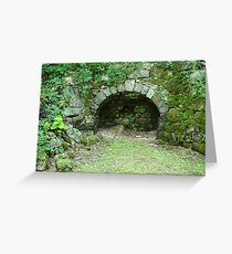 Moss-covered Structure - Built by Native Americans Greeting Card