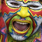 A Man with Colourful Face by RONI PHOTOGRAPHY