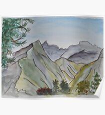 Abstrakter Berg Olymp Poster