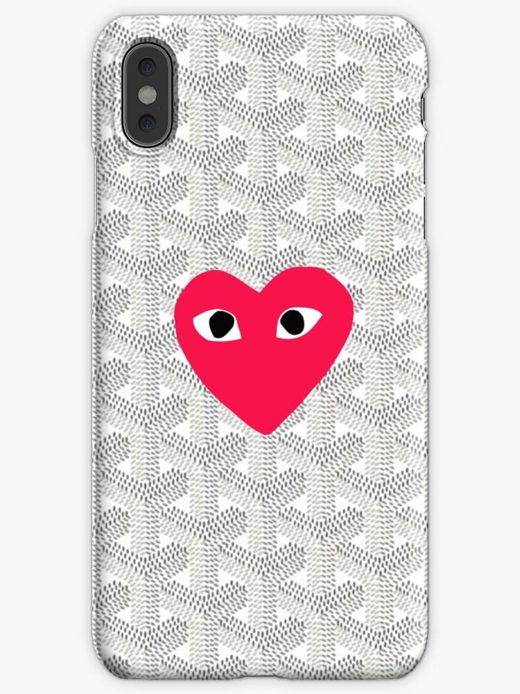 new concept 74f84 026b8 'comme des garcons White Goyard' iPhone Case by NicoleStewarts