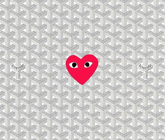 """comme des garcons White Goyard"" Poster by NicoleStewarts | Redbubble"