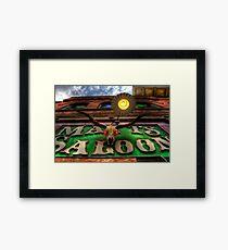 Matts Saloon Framed Print