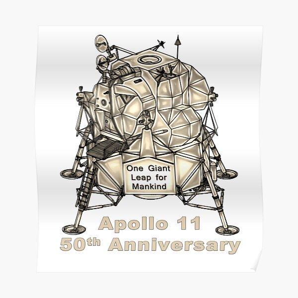 Apollo 11 Lunar Excursion Module 50th Anniversary  Poster