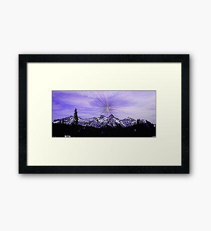 Supernova Sunshine Framed Print