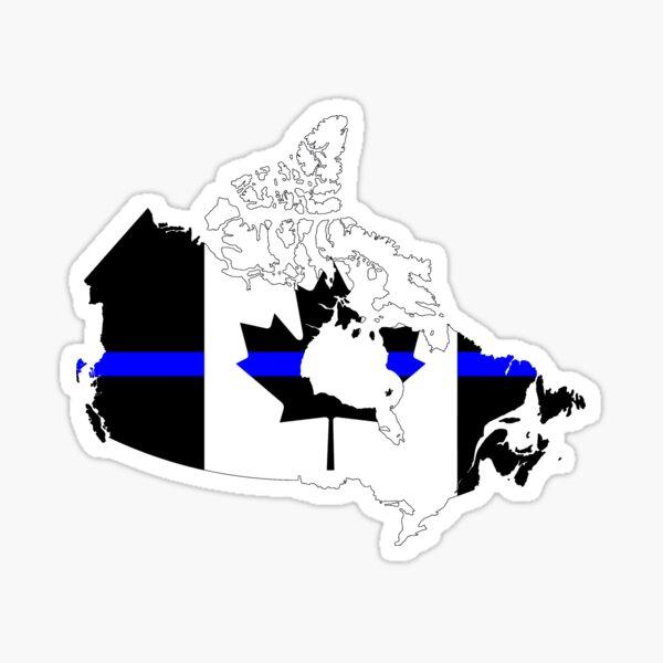 Thin Blue Line Flag - Canada Sticker