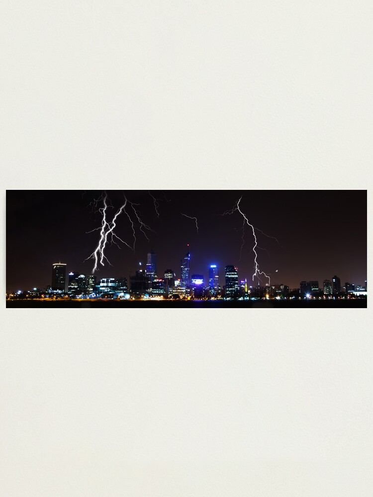 Alternate view of Perth Lightning Photographic Print