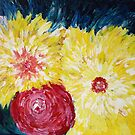 Floral Explosion Abstract Painting by Manitarka