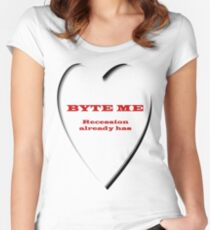 Hoodie - Byte Me  Women's Fitted Scoop T-Shirt
