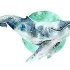 «Ballena cosmo» de Sarah  Mac Illustration
