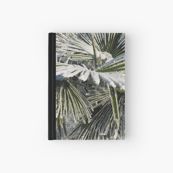 Frosty palm tree Hardcover Journal
