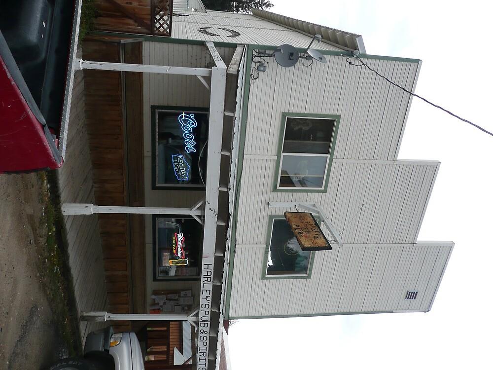 Harley's Pub & Spirits, Idaho City. by Mywildscapepics