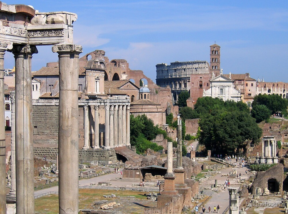 View of the Colosseum from the Roman Forum, Rome, Italy by hjaynefoster