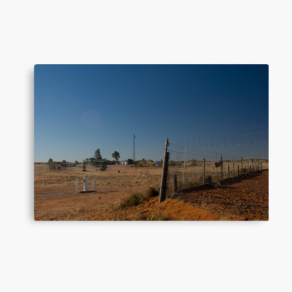 Canine Berlin Wall - Wild Dog Fence 2 Canvas Print